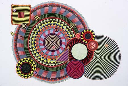 Xenobia Bailey, Bit by Bit, Little by Little 2001, cotton and acrylic yarn crochet