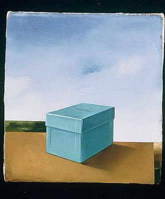 Richard Baker, Box 2000, oil on canvas on panel