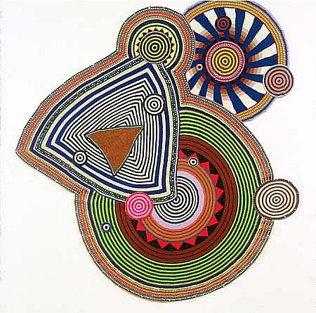 Xenobia Bailey, Title Trilogy 2000, cotton and acrylic yarn crochet