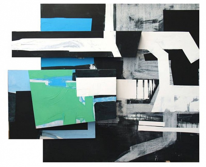 Javier Balda, Untitled 2008, oil, acrylic and collage on canvas