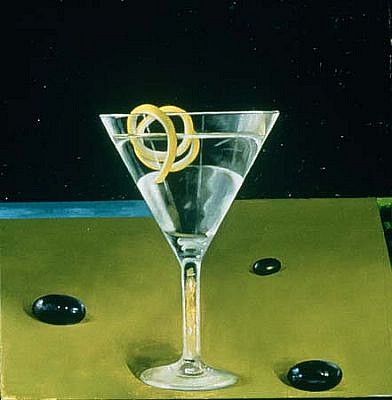Richard Baker, With a Twist 2000, oil on panel
