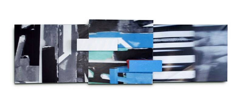 Javier Balda, Untitled 2009, ink jet and collage on pvc canvas