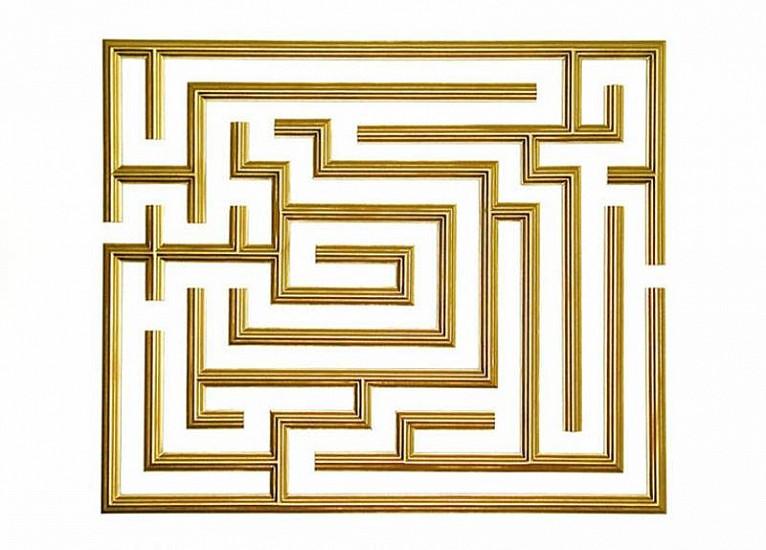 Jan Baracz, Minotaur 1.1 2002, gilded frame on aluminum structure