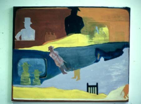 James Barefoot, TV Series. Something for Lebanon II 1985, mixed media on canvas