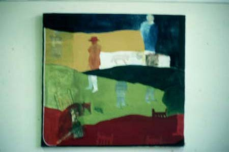 James Barefoot, Untitled 1985, mixed media on canvas