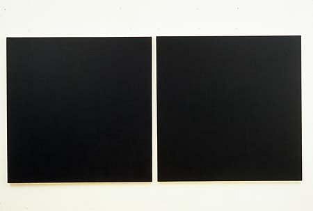 Joe Barnes, Black 2003, acrylic on canvas