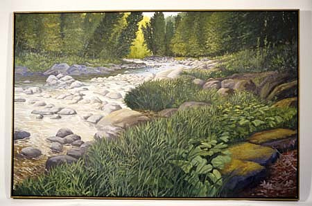 William Barron, Cold River 2004, oil