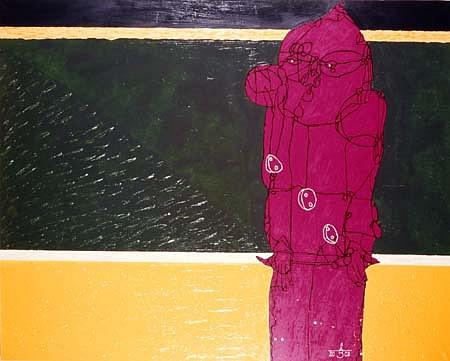 Leszek Bartkiewicz, Drawn Human XIII 2002, oil on canvas