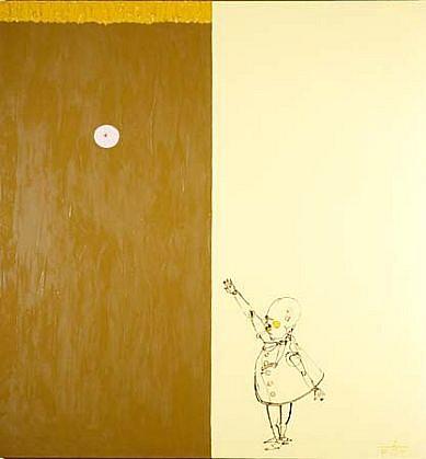 Leszek Bartkiewicz, Drawn Human XVIII 2004, oil on canvas