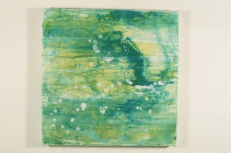 Peggy Bates, Clear Blue Estuary 1996, acrylic and oil on canvas