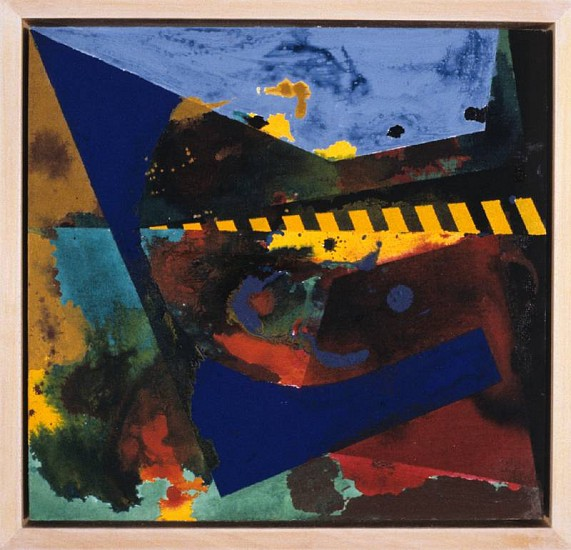 Jackie Battenfield, Swimming 1990, acrylic and metal foil on canvas