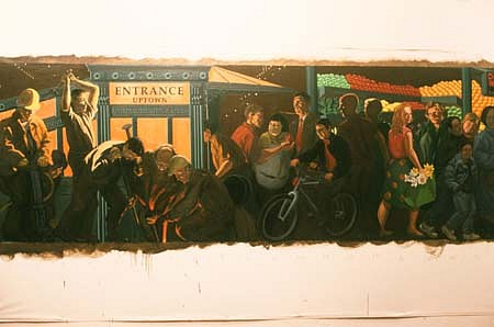 Jack Beal, Painting for Subway Mosaic 1998 - 2000, oil on canvas