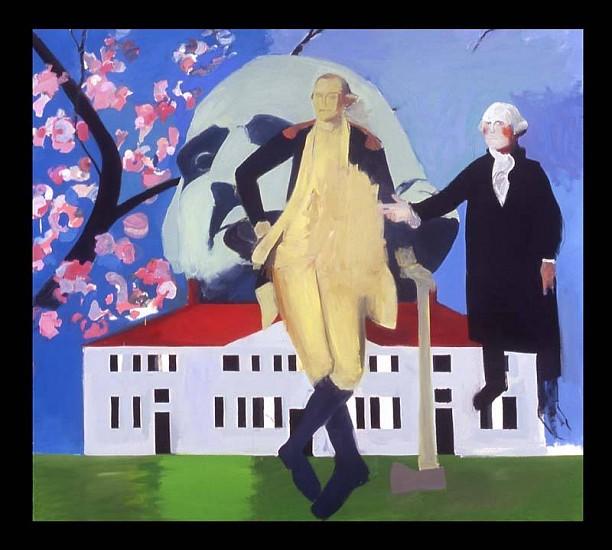 Kevin Bean, George Washington 2006, oil on canvas