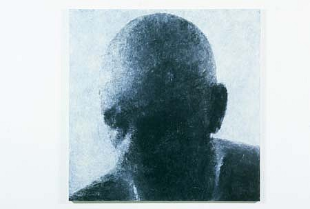 John Beard, Head - Self Portrait II 2001, oil and wax on linen