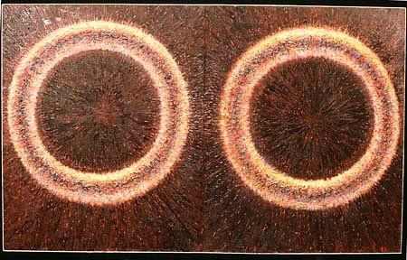 Ken Beck, Ocular (Two Rings) 1990, oil on board
