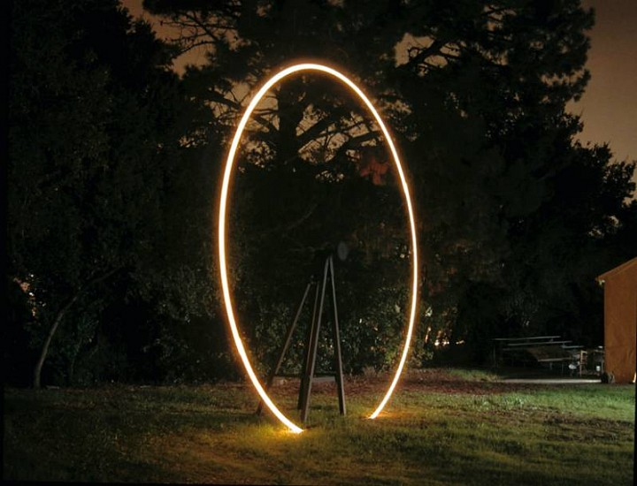 Christopher Bell, Untitled (Propeller) 2006, motor, wood, steel, lights