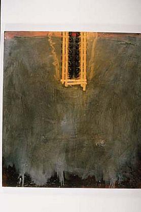 Doug Bell, 16 Gromets 1985, acrylic, mixed media on canvas