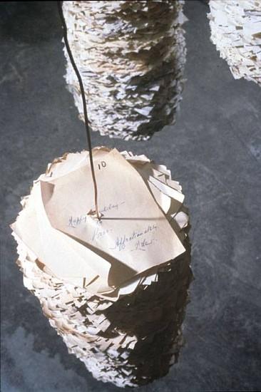Susan Benarcik, Mental Notes 2008, book page, copper wire