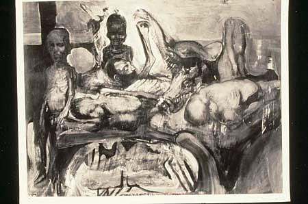 Adolf Benca, Hunger 1991, oil on linen