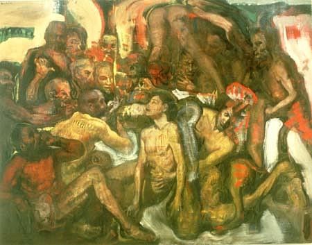 Adolf Benca, Canto 1990, oil on linen
