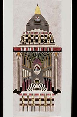 Lisa Bennett, Cathedral Fragments 1997, pen, ink, watercolor/ Bristol