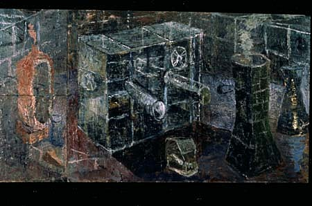Thomas Berding, Physical Plant 1990, oil on canvas