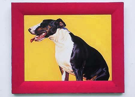 Elizabeth Berdann, Bull Terrier 2001, oil on copper