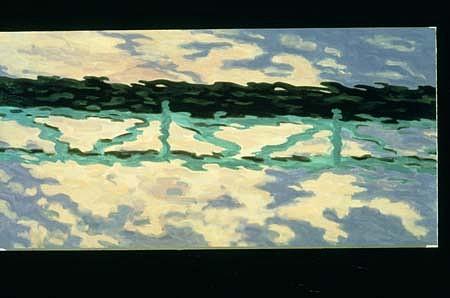 Robert Berlind, A Bridge 1995, oil on linen