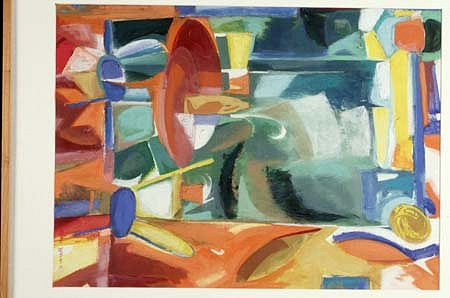 Beryl Bernay, View from My Kitchen 1990, acrylic, pastel on paper