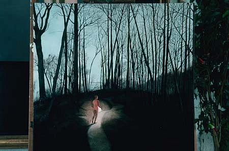 Norma Bessouet, Safeguarding the Moon 1991, oil