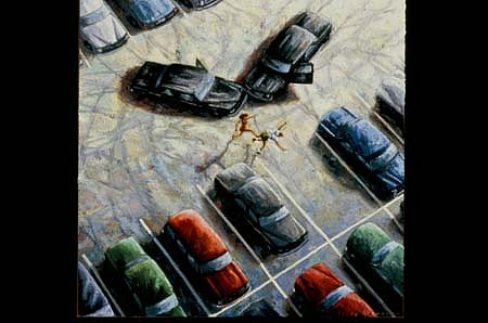 Bruce Ackerson, Parking Spot 2004, oil on panel