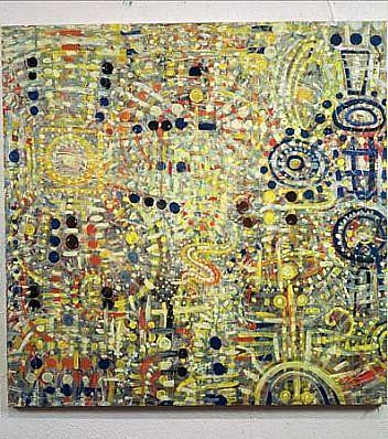 Stephen Alarid, Cosmos oil on canvas