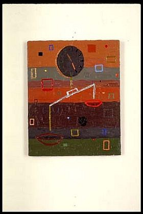 Elizabeth Albert, Weighting (Rough) 1995, oil, enamel on canvas