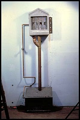 Michael Acker, Fire 1990, concrete, water, copper, steel, pump