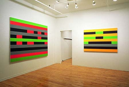 Barry Allikas, Timelines, Singularities 2002, acrylic on canvas