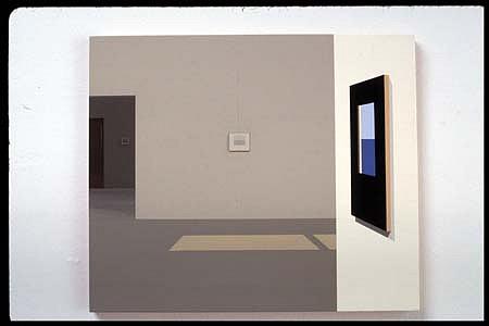 Diti Almog, 11:00 AM 2003, acrylic on aircraft plywood