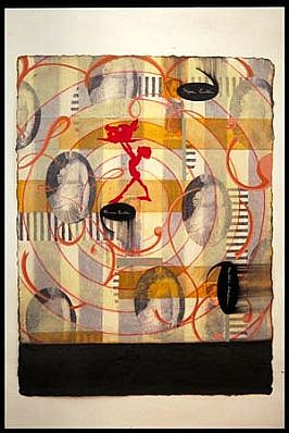 Linda Mieko Allen, Second Nature III 1999, mixed media on paper