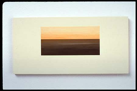 Diti Almog, 6:45 PM 2003, acrylic on aircraft plywood