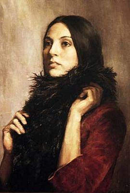 Elena Arcangeli, Elpida oil on canvas