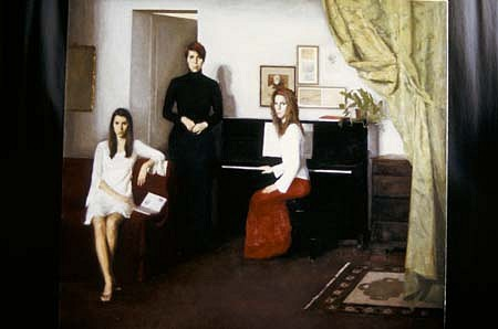 Elena Arcangeli, Sisters 2003, oil on canvas