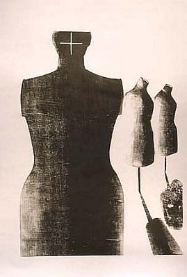 Adriana Asenjo, El Maniqui 2001, xilografia