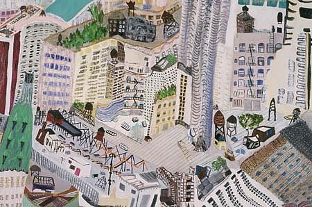 Olive Ayhens, Manhattan Rooftops 1999