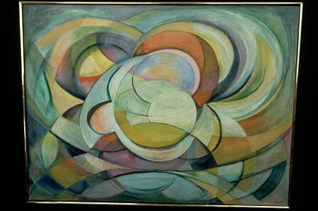 Lucia Autorino Salemme, Yellow Movement 1984, oil