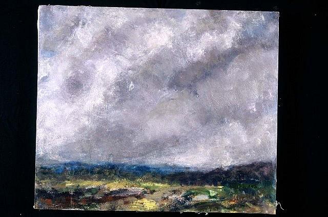 Simon Carr, Heavy Sky 1997, acrylic on canvas