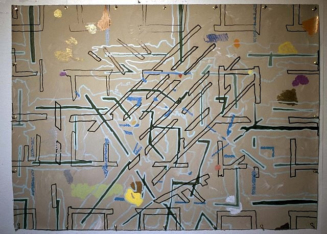 James F. L. Carroll, A Plan to Build 2007, oil markers on hand made paper