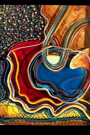 Stevens Jay Carter, C-Note XXXVIII 2004, mixed media on 3-D glass