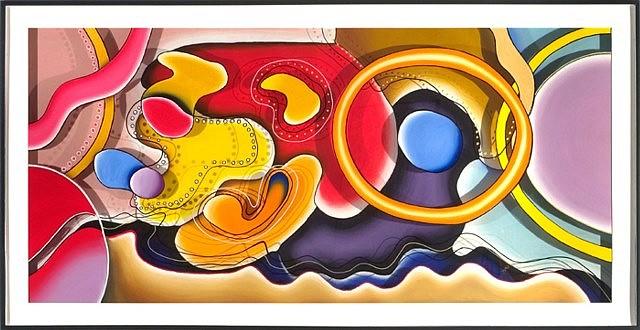 Stevens Jay Carter, C-Note LI 2006, mixed media on 3D plexi
