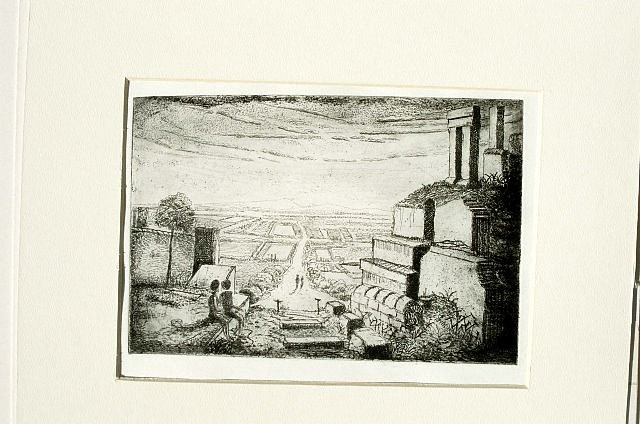 Paul Clark, Disused Line 1990, etching