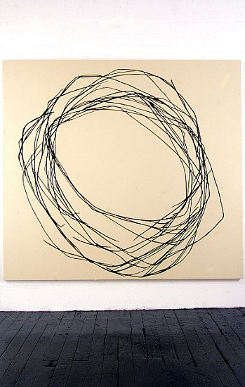 Alex Calinescu, no 4 2005, charcoal and acrylic on canvas