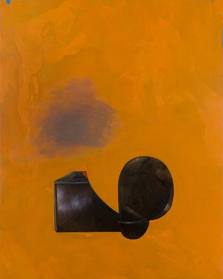 Tiffany Calvert, Untitled (Orange with Cloud) 2009, oil and spraypaint on canvas